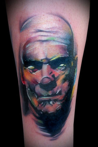 Multi Colored Mummy Portrait Tattoo