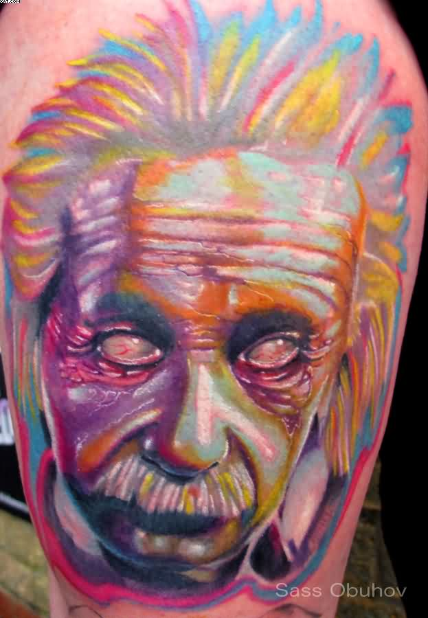 Multi Colored Portrait Tattoo