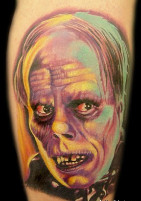 Mummy Colored Portrait Tattoo