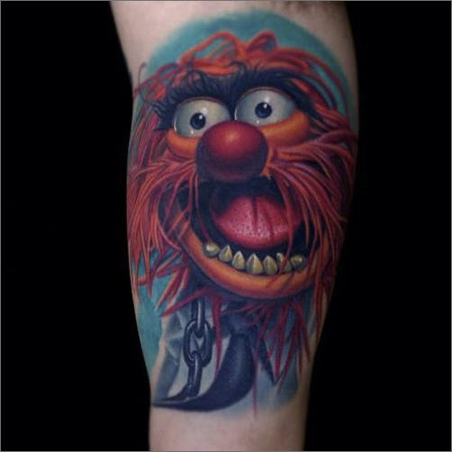 Muppet Animal Tattoo On Arm