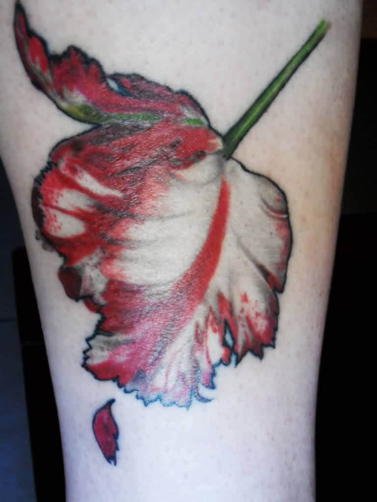 My New Moon Tulip Tattoo