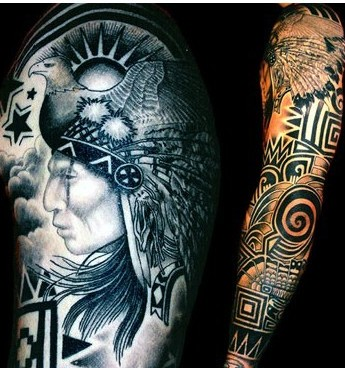 Native American Sleeve Tattoo Ideas