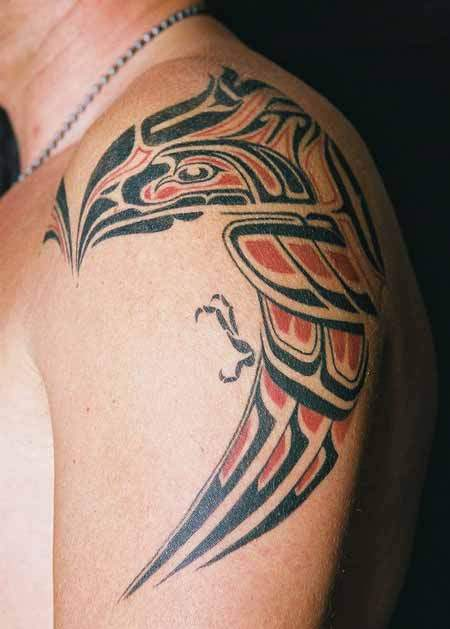 Native American Symbol Tattoo On Shoulder