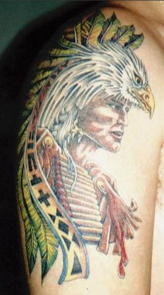 Native American Tattoo On Arm