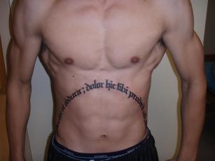 Native American Tattoo On Stomach