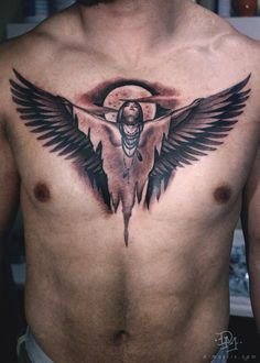 Native American Tattoo On The Chest