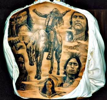 Native American Tattoos On Whole Backbody
