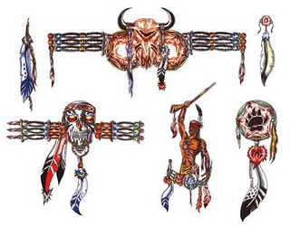 Native American Tattoos Set