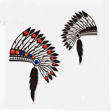 Native Helmet Tattoo Designs