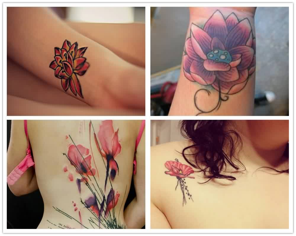 Neautiful Pink Watercolor Tattoos
