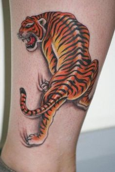 New 3D Tiger Tattoo