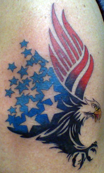 New American Eagle Tattoo Style
