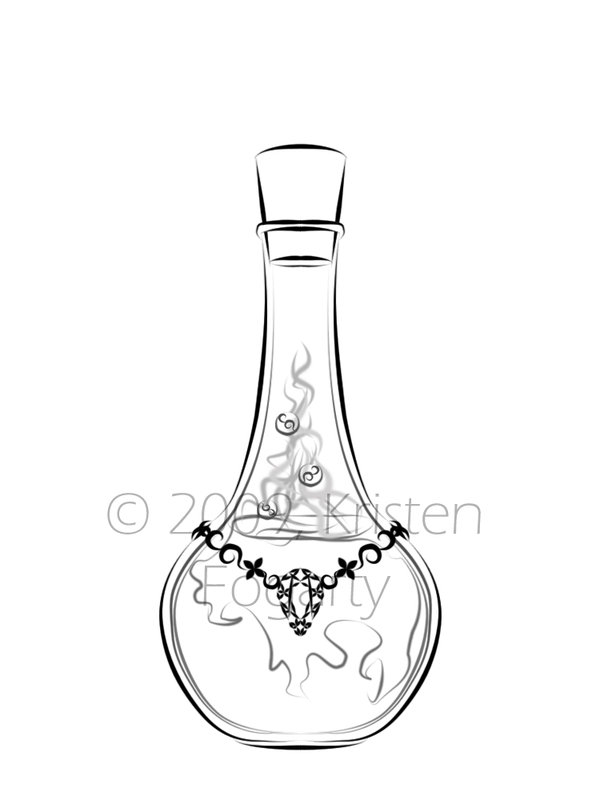 New Bottle Tattoo Design