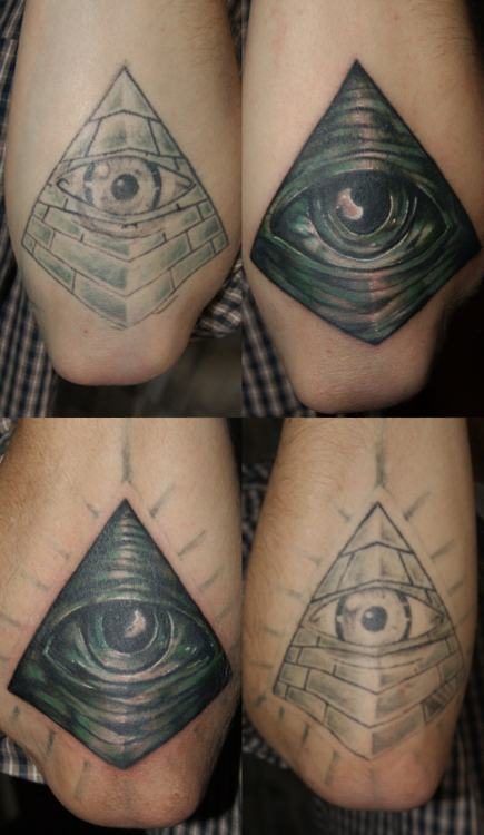 New Eye Pyramid Tattoo Images