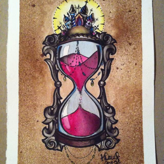 New Hour Glass Tattoo Print