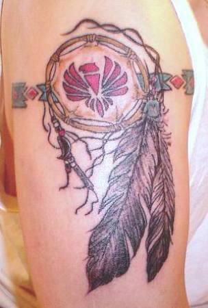 New Native American Armband Tattoo On Biceps