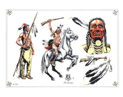 New Native American Tattoos Set
