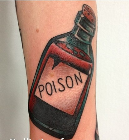 New Poison Bottle Tattoo
