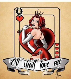 New Queen Of Hearts Tattoo Flash (2)