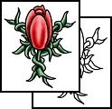 New Red Tulip Flower Tattoo Design (2)