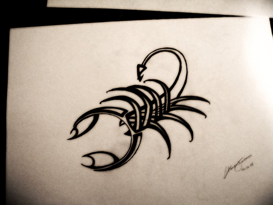 New Style Tribal Scorpion Tattoo Design