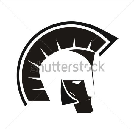 New Warrior's Helmet Tattoo Design
