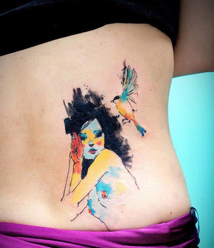 New Watercolor Tattoos For Girls And Women