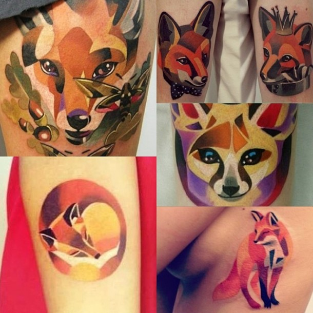 New Watercolor Tattoos Pictures