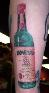 New Whiskey Bottle Tattoo