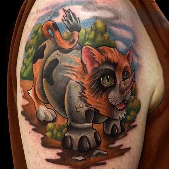 New Wild Animal Tattoo On Biceps