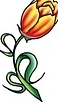 Newest Tulip Flower Tattoo Design