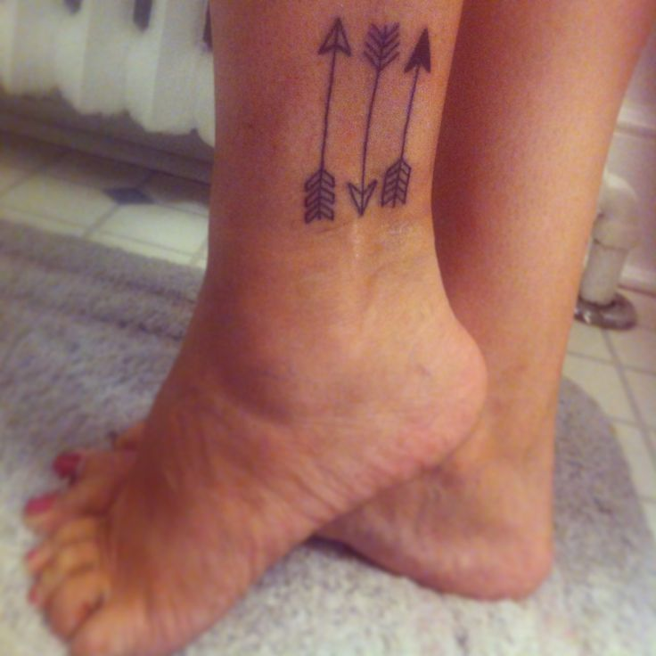 Nice Arrow Tattoos Above Ankle