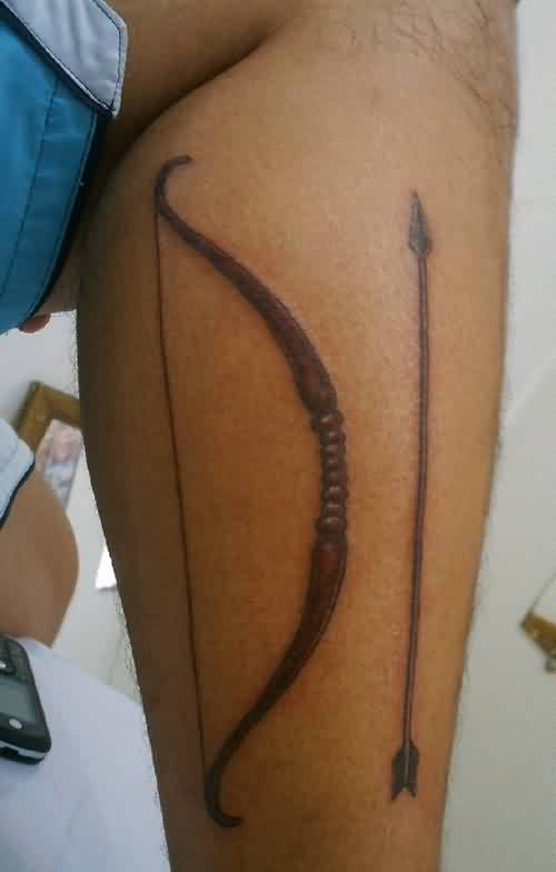 Nice Bow And Arrow Tattoo (2)