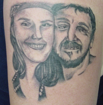Nice Couple Portrait Tattoo