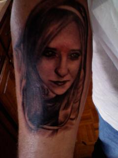 Nice Portait Tattoo Of Woman