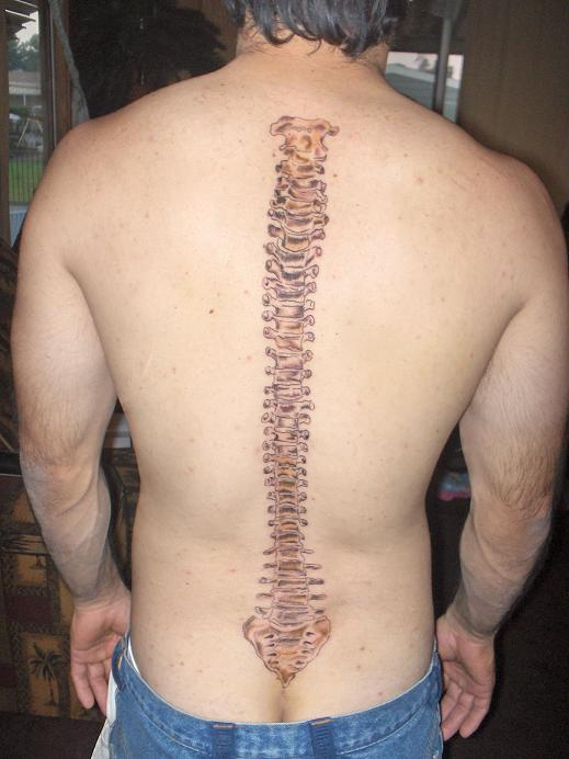 Nice Spine Bone Tattoo