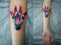 Nice Watercolor Animal Head Tattoo
