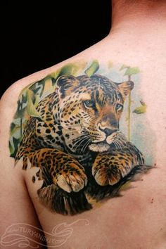 Nice Wild Animal Tattoo For Men