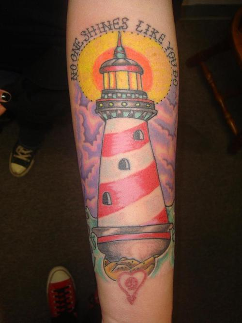 No One Shines Like You Do - Lighthouse Tattoo