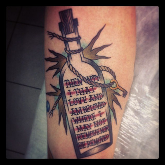 Old Bottle Tattoo