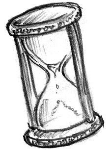 Old Hour Glass Tattoo Design