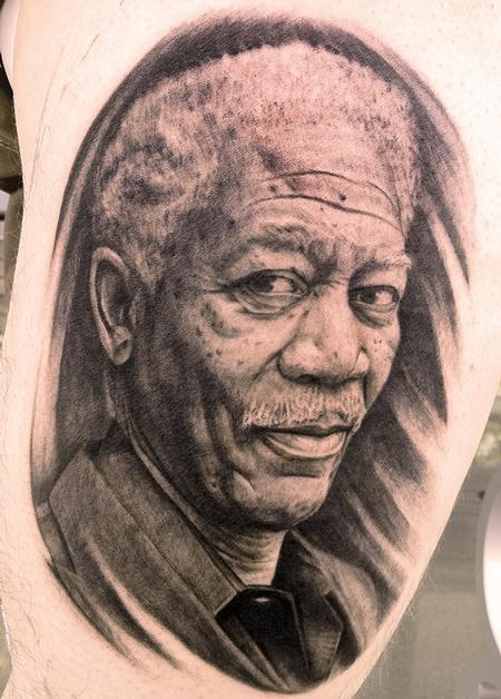 Old Man Portrait Tattoo
