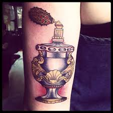 Old Perfume Bottle Tattoo