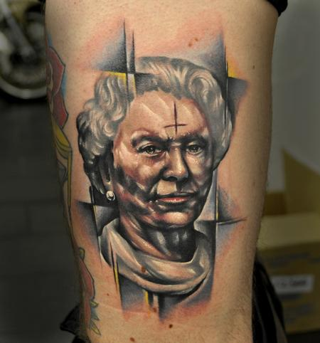Old Queen Portrait Tattoo