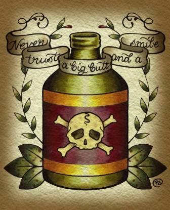 Old School Bottle Tattoo Flash