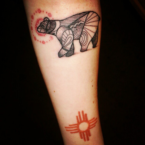 Once Again Geometric Animal Tattoo