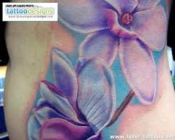 Orchid Flowers Portrait Tattoos