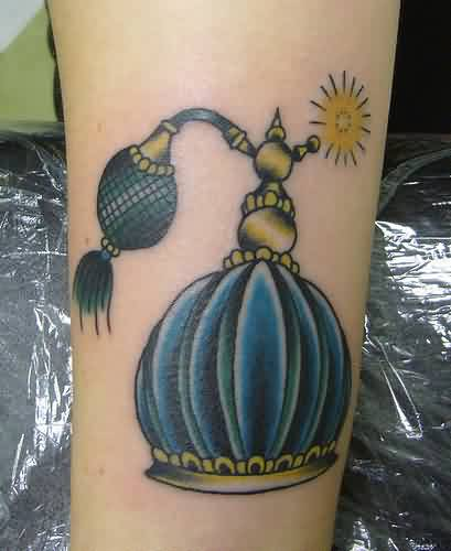 Outstanding Perfume Bottle Tattoo