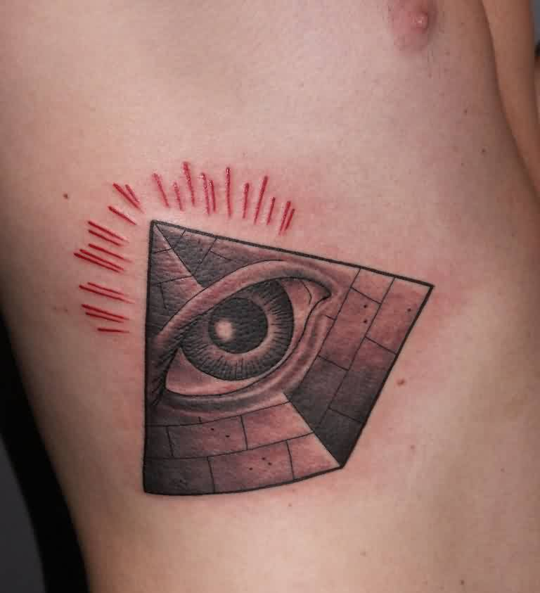 Outstanding Pyramid Eye Tattoo For Men