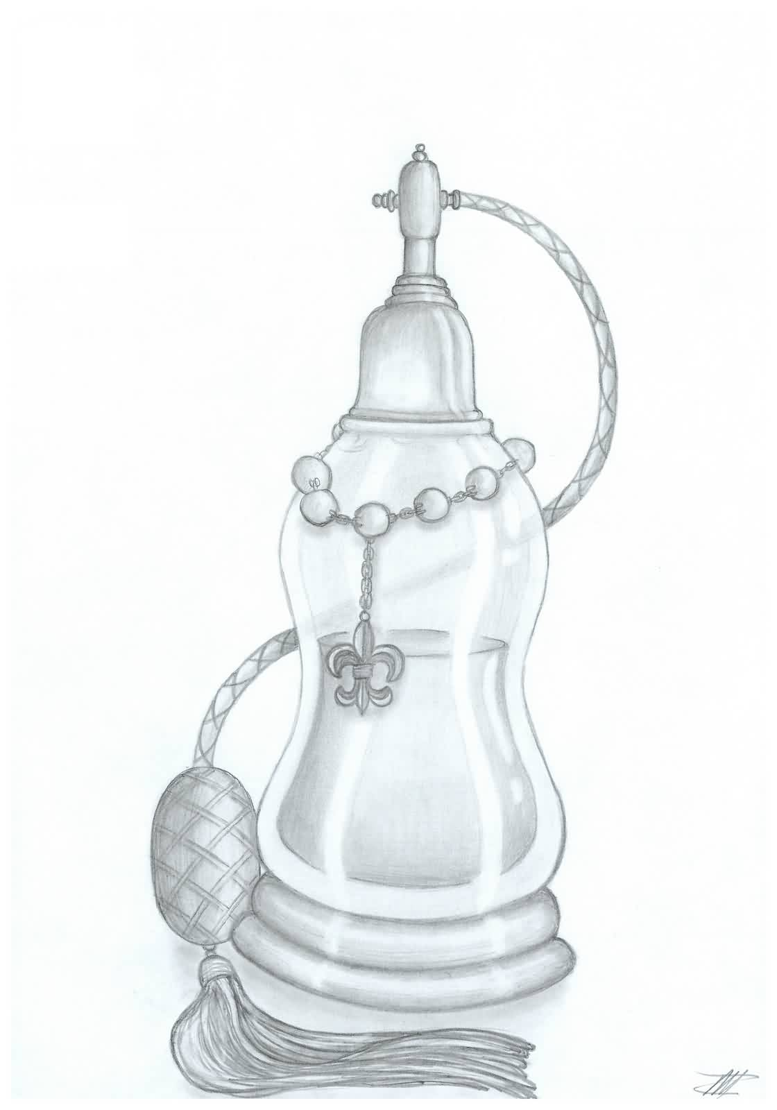 Perfume Bottle Tattoo Drawing (2)